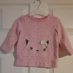 2/$20 Gymboree Pink Polka Dot Cat Sweater